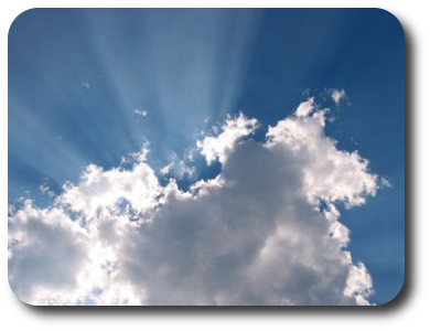 Light breaking<br /><br /><br /><br /> through the clouds - symbolising healing light breaking through the difficult times.